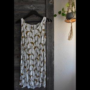 H&M alligator swing dress